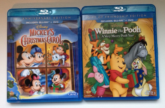 disneys mickeys christmas carol and winnie the pooh a very merry pooh year review giveaway mbsgg my family stuff - Mickeys Christmas Carol Blu Ray