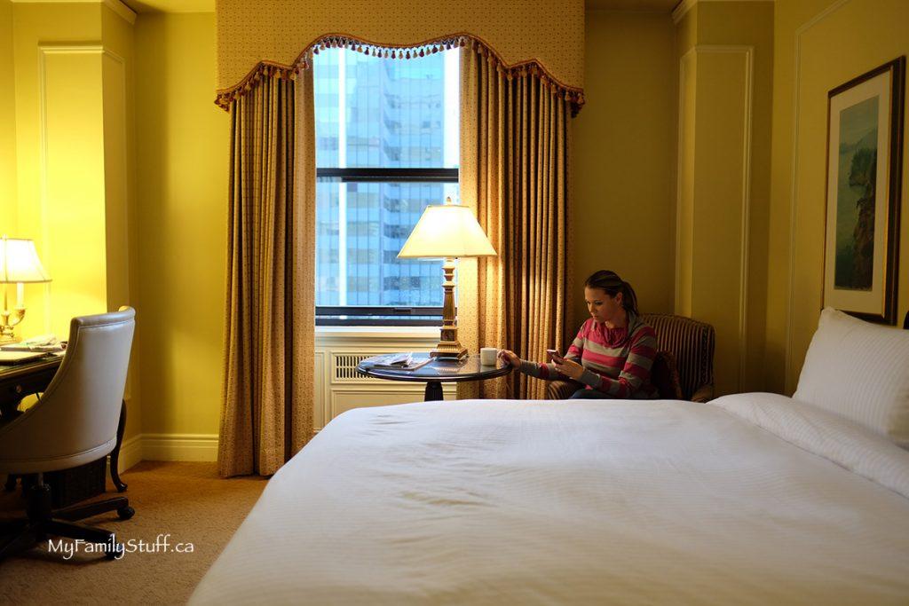 Fairmont Hotel Vancouver room