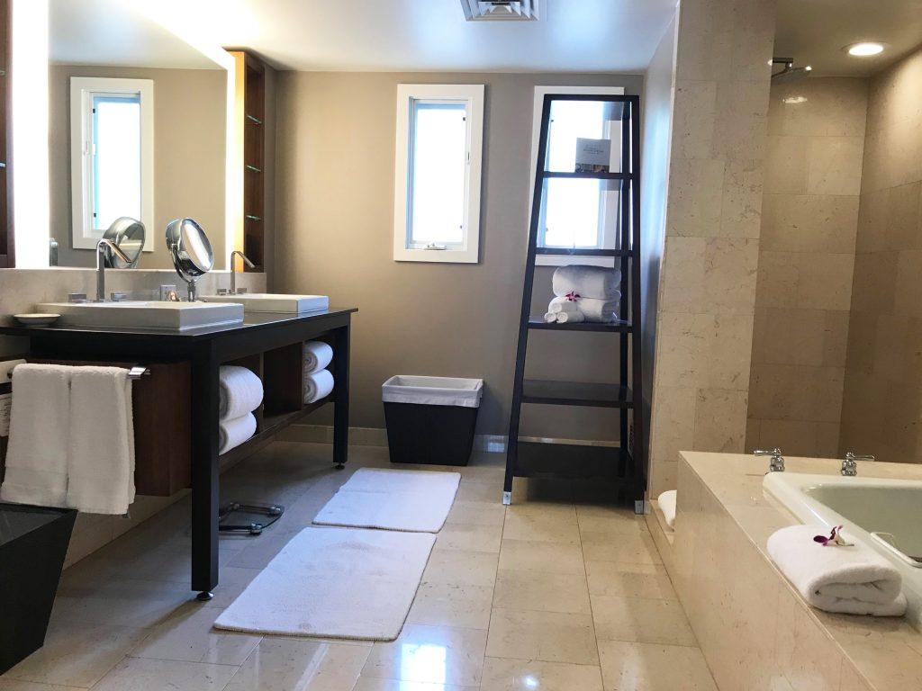 Fairmont Kea Lani Villa marble bathroom
