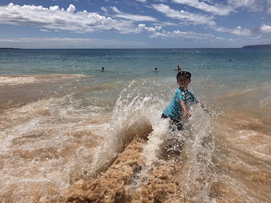 Big waves at Makena Beach on Maui