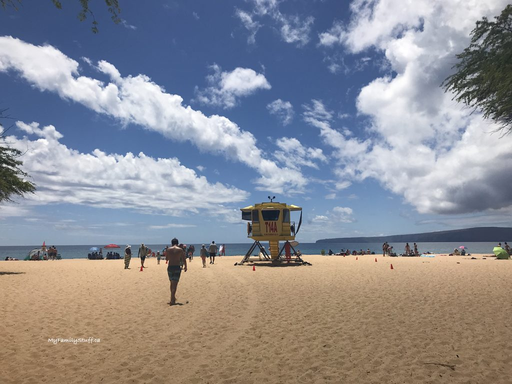 Lifeguards at Makena Beach