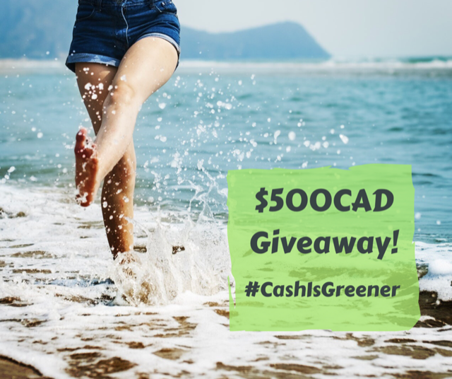 Cash is greener giveaway