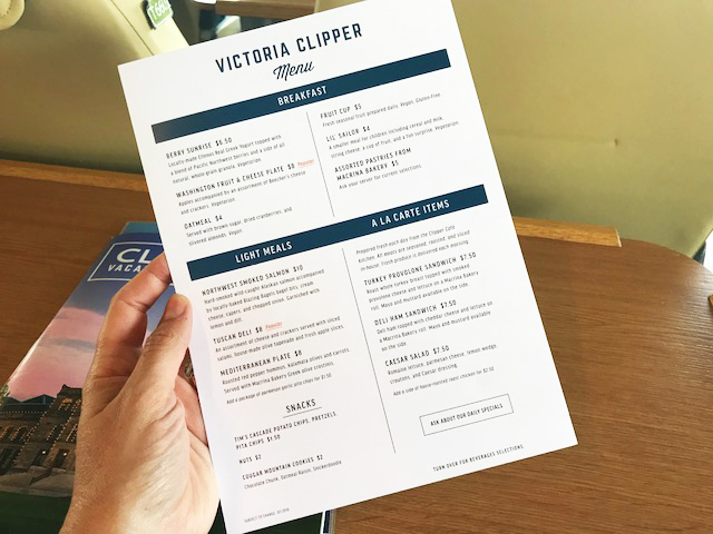 Clipper Food Menu