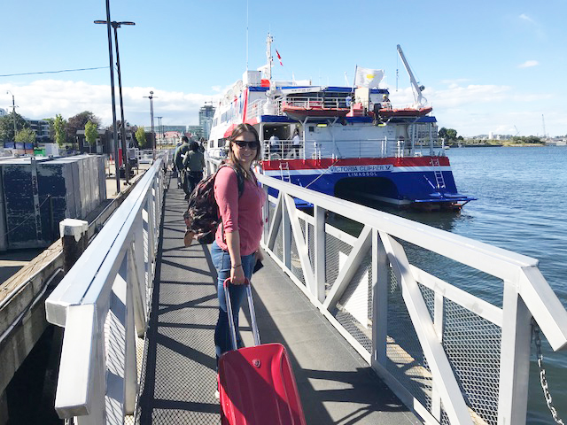 Boarding the Victoria Clipper