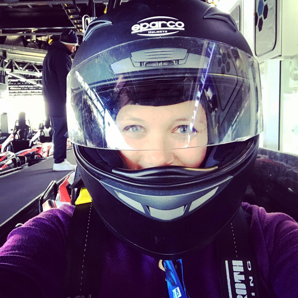 Norwegian Bliss Go-Karts helmets