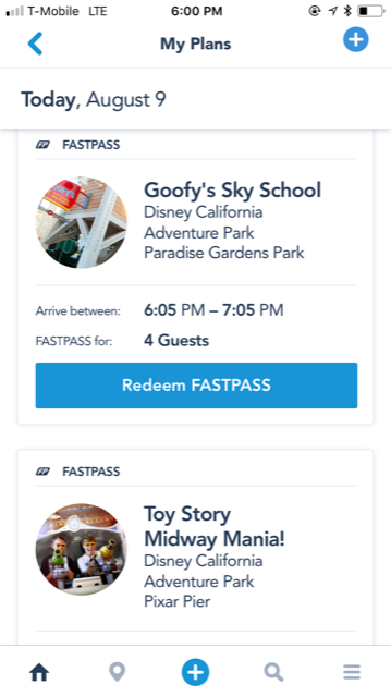 MaxPass FastPass at Disneyland Resort