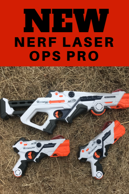 New Nerf Laser Ops Pro Blasters. Play laser tag anywhere and anytime!