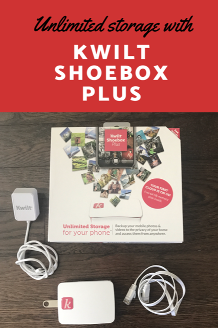 Unlimited Photo Storage from your phone with the Kwilt Shoebox Plus.