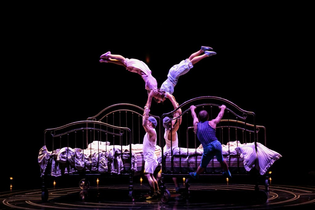 Bouncing Beds Corteo Cirque du Soleil