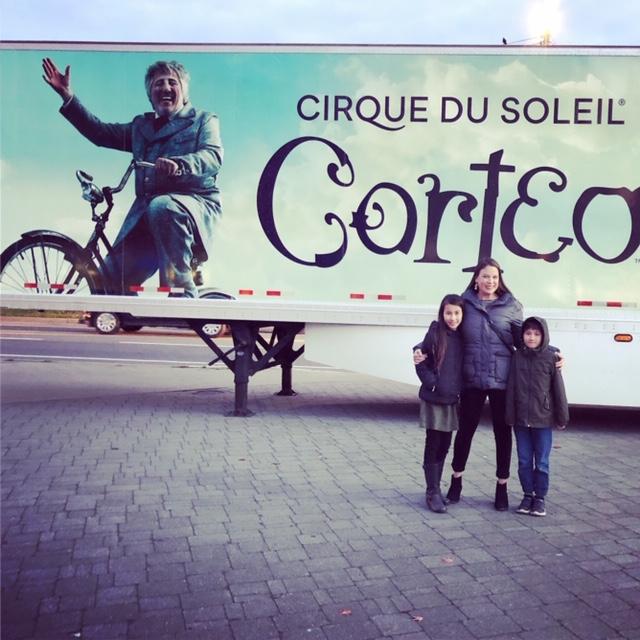 Cirque du soleil with kids