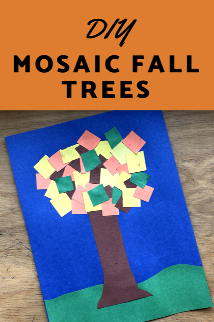 Easy DIY project: Mosaic Fall Trees #art #diy