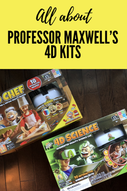 All About Professor Maxwell's 4D Kits #STEM